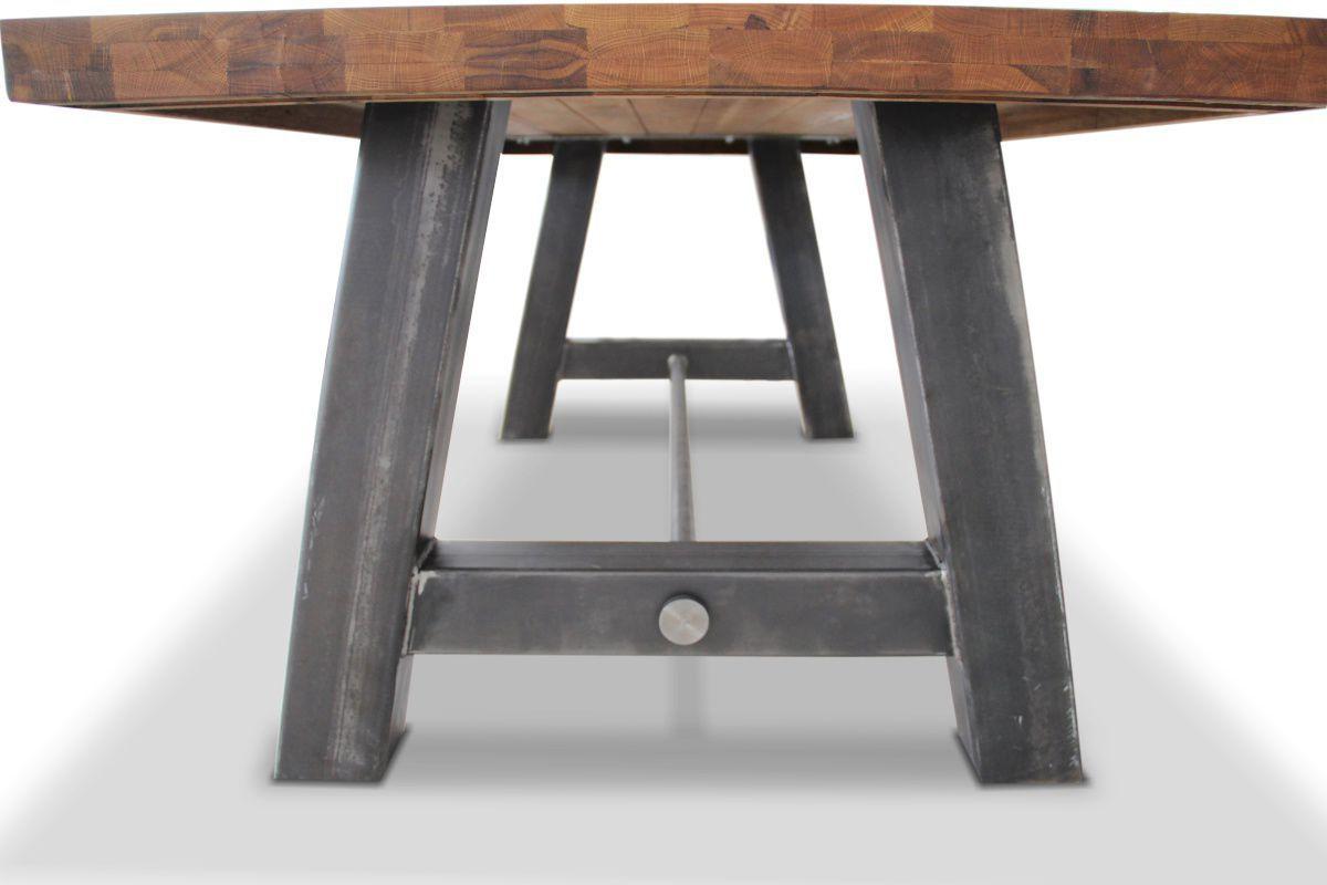 Tavolo Da Pranzo Industriale : Tavolo da pranzo design industriale in quercia in legno