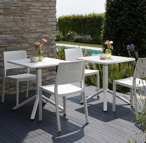 Tavolo Da Giardino Moderno Pieghevole.Tavolo Da Bistrot Moderno In Alluminio Quadrato Pieghevole