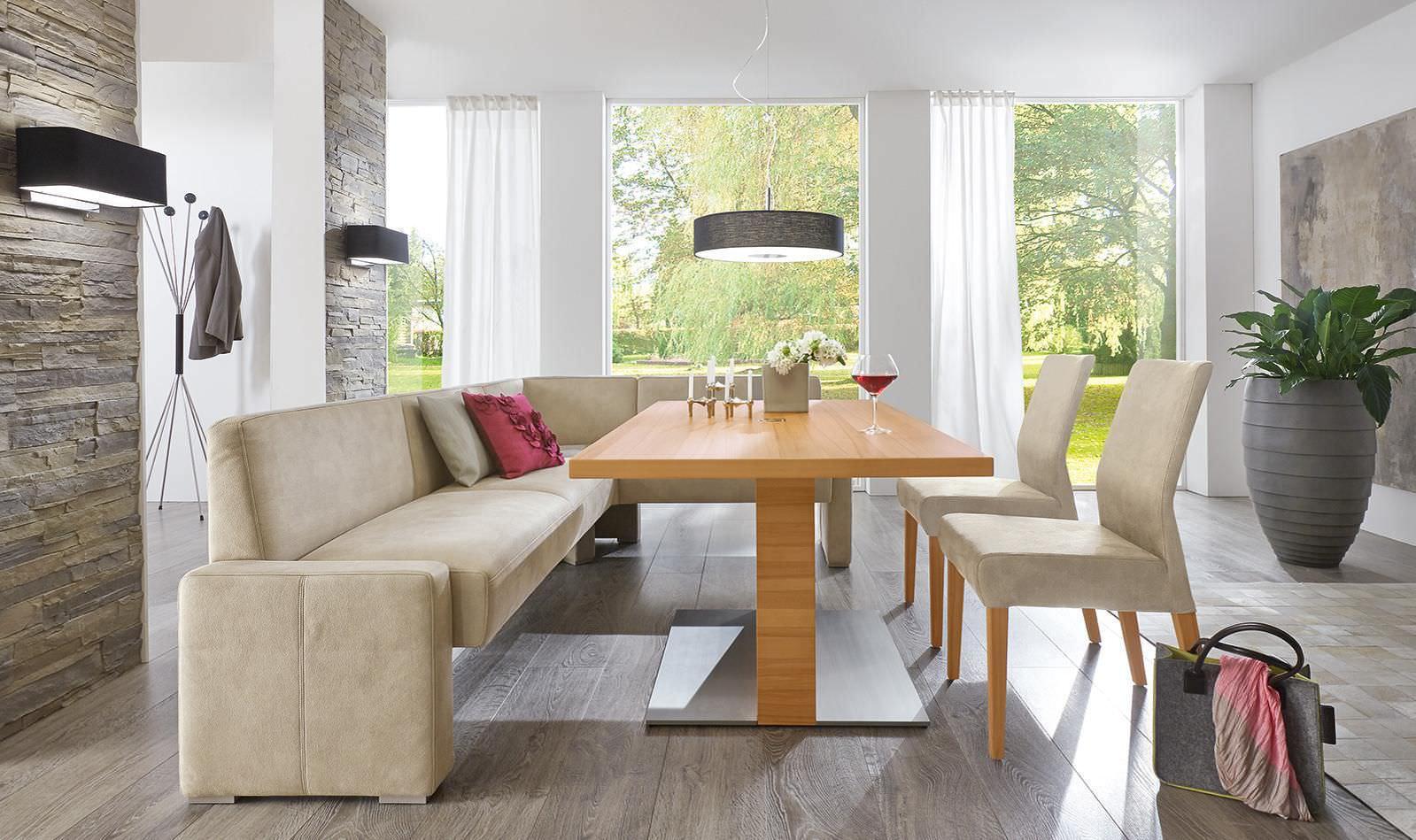 Tavolo da pranzo moderno in legno rettangolare ad altezza