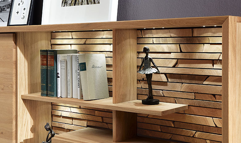 Libreria bassa / moderna / in legno massiccio - FINO - Alfons ...