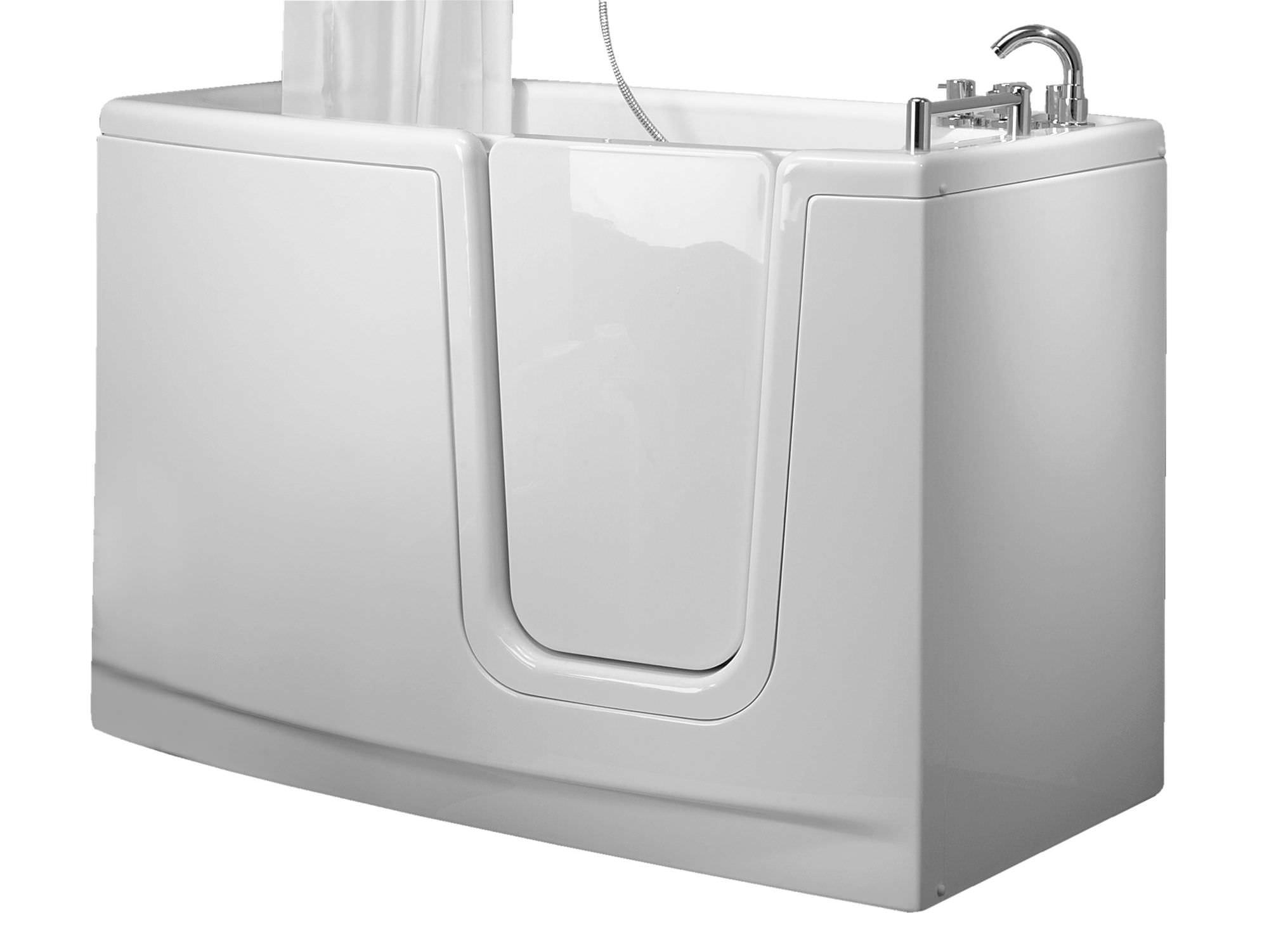 Vasca da bagno da appoggio in fibra di vetro con porte per