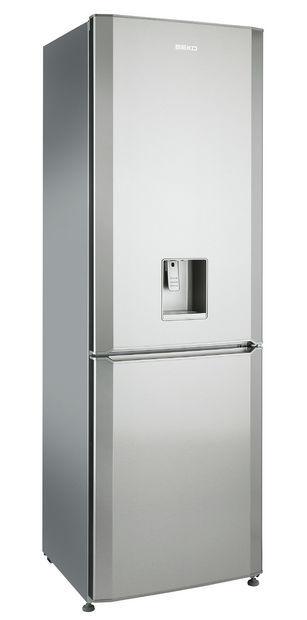 Frigorifero combinato ad armadio / in acciaio inox / con dispenser d ...