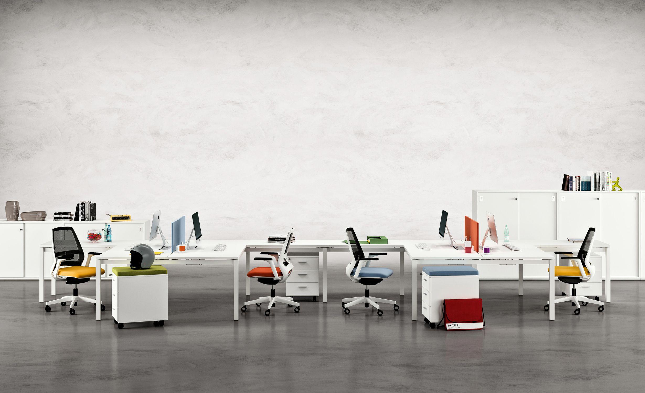 Quadrifoglio Sedie Ufficio : Sedia da ufficio moderna con rotelle con base a stella con