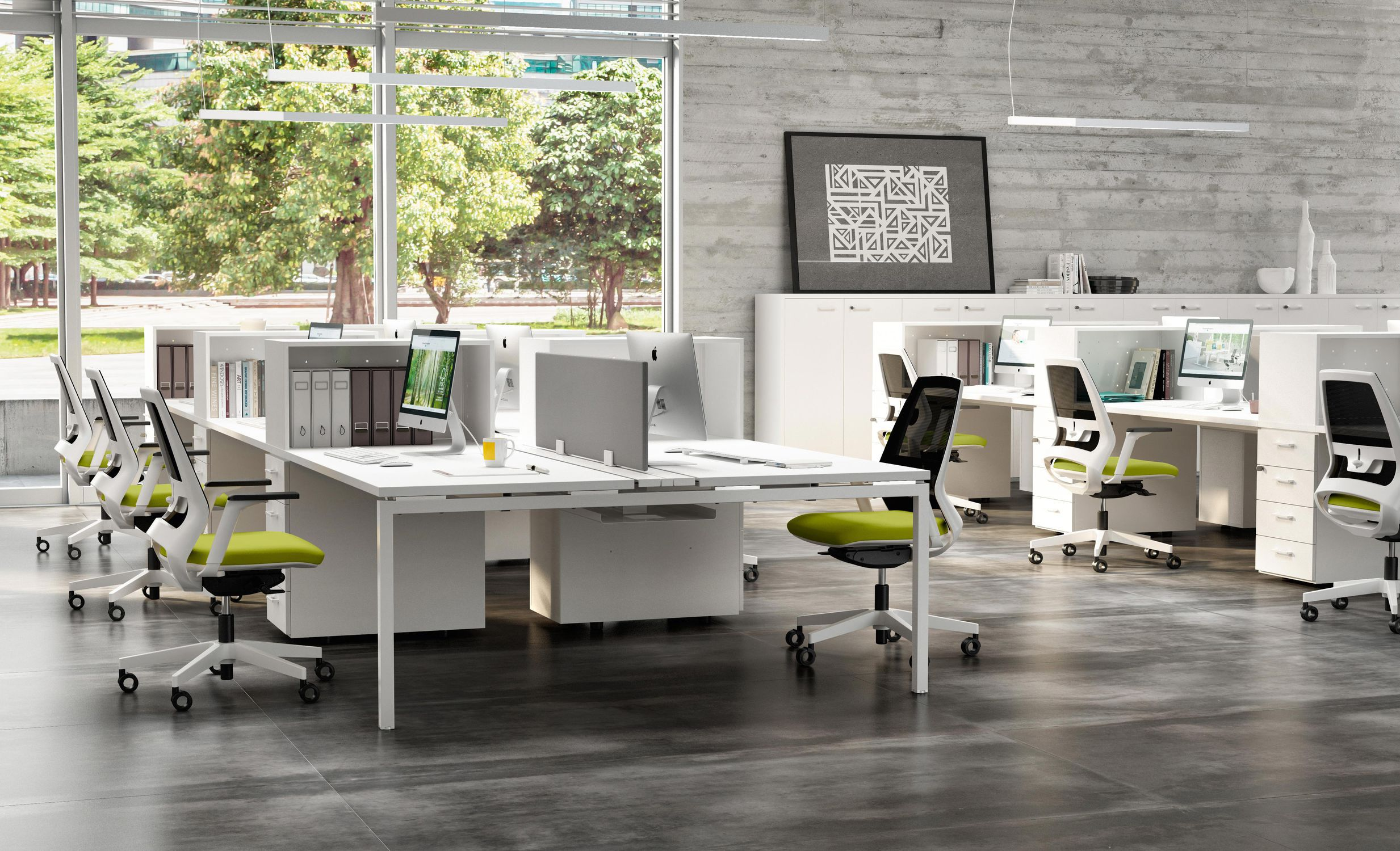 Arredi Per Ufficio Quadrifoglio : Sedia da ufficio moderna con rotelle con base a stella con