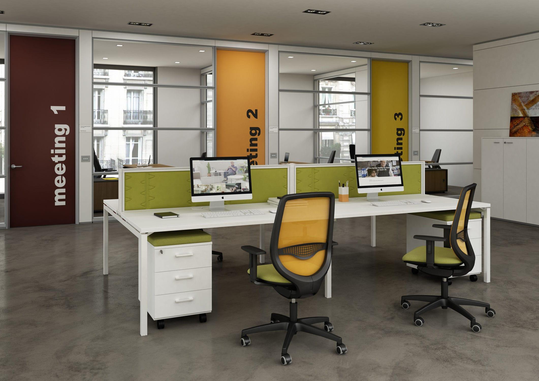 Quadrifoglio Sedie Ufficio : Sedia da ufficio moderna con braccioli ad altezza regolabile