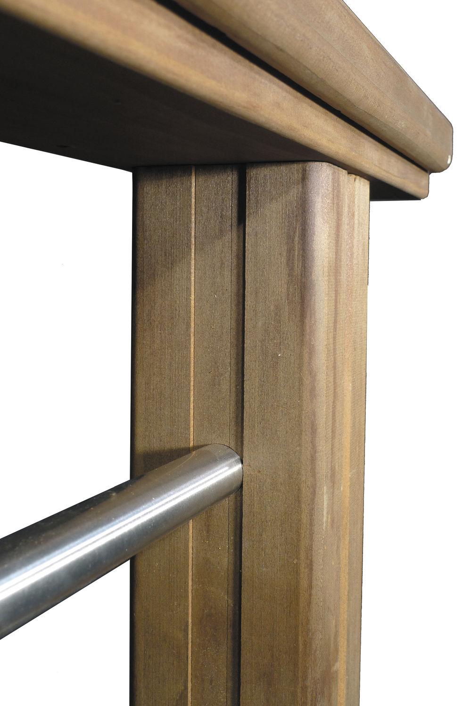 Ringhiera da esterno / in legno / a sbarre / per piattaforma ...