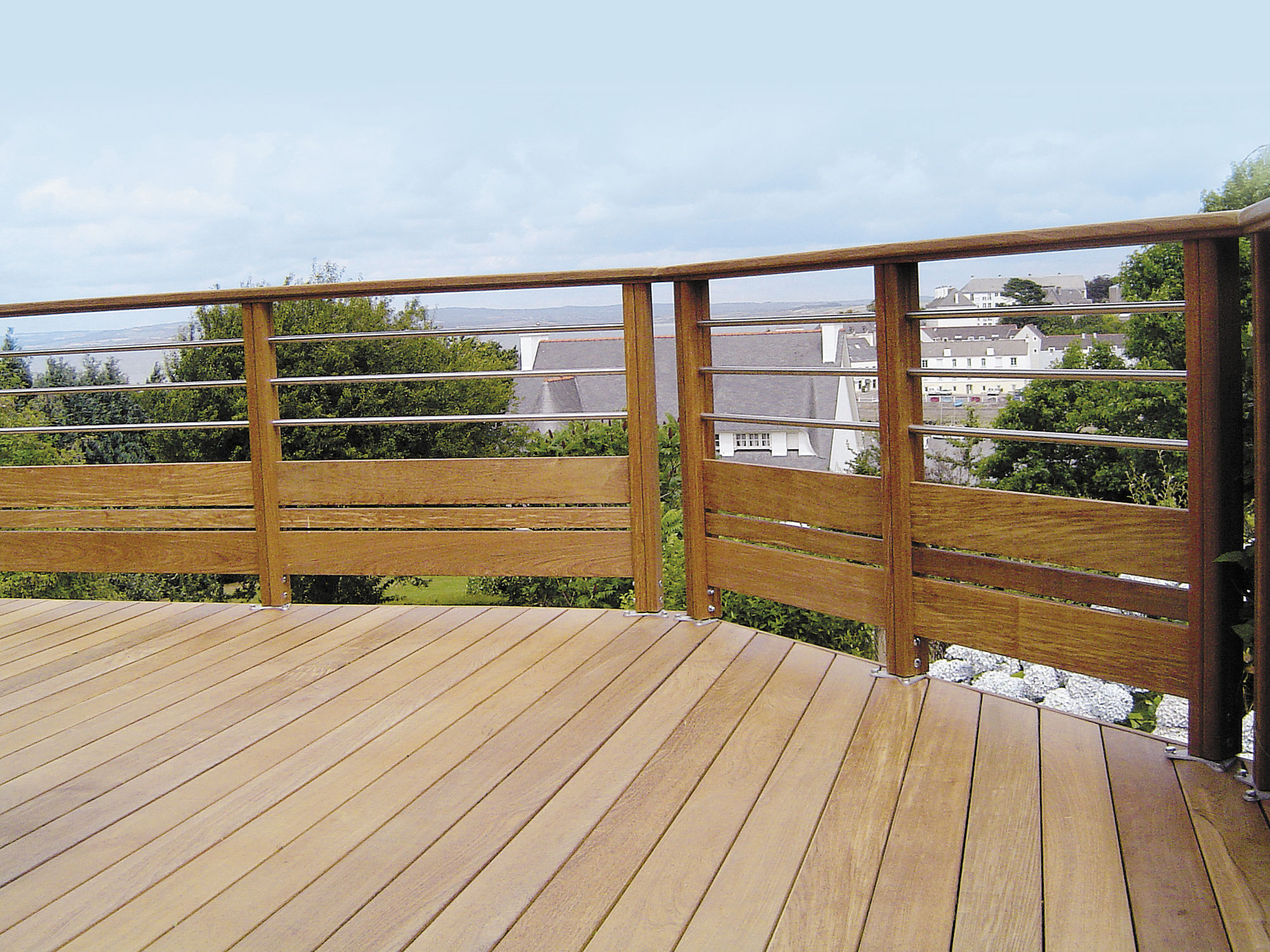 Souvent Ringhiera in legno / a sbarre / da esterno / per piattaforma  UY81