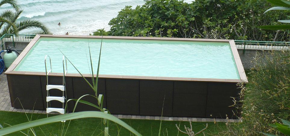 Piscina fuoriterra / in legno / da esterno - DOLCEVITA - LAGHETTO