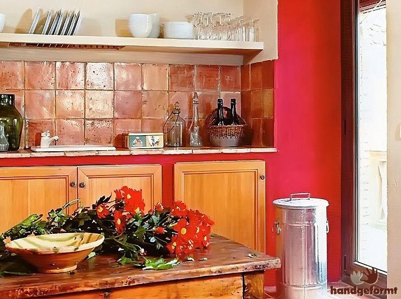 Piastrella da interno da cucina da pavimento in terracotta