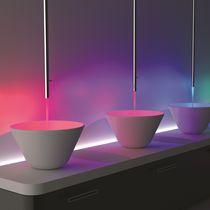 Miscelatore per lavabo / a soffitto / in ottone cromato / da bagno