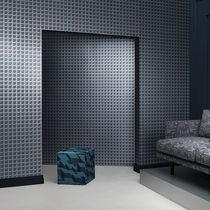Tessuto da tappezzeria / per tende / a motivi geometrici / in lino