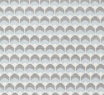 Tessuto da tappezzeria / a motivi geometrici / in poliestere / in cotone