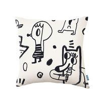 Cuscino quadrato / a motivi / in cotone