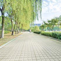 Piastrella da esterno / per pavimento / in calcestruzzo / a motivi geometrici