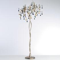Lampada con piede / classica / in vetro / in bronzo
