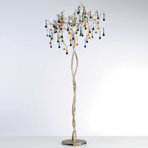 Lampada da terra / classica / in vetro / in bronzo