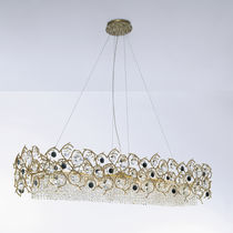 Lampada a sospensione / in stile / in metallo / in cristallo