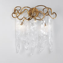 Applique classica / in vetro / in bronzo / LED