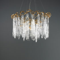 Lampada a sospensione / classica / in vetro / in bronzo