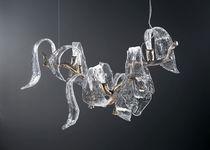 Lampada a sospensione / moderna / in vetro / in bronzo