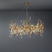 Lampadario classico / in bronzo / in vetro / alogeno