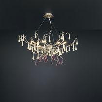 Lampada a sospensione / design originale / in metallo / in vetro