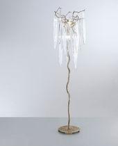 Lampada da terra / design originale / in bronzo / in cristallo