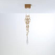 Lampada a sospensione / moderna / in bronzo / in vetro