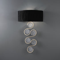 Applique moderna / in bronzo / in vetro / alogena