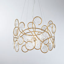 Lampada a sospensione / classica / in bronzo / in vetro
