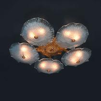 Plafoniera classica / in vetro di Murano / in bronzo / LED