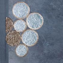 Applique moderna / in bronzo / in vetro / LED