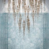Lampadario moderno / in vetro / in bronzo / LED