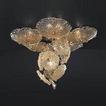 Plafoniera moderna / in vetro di Murano / in bronzo / LED