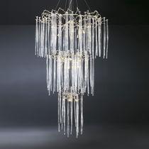Lampada a sospensione / classica / in bronzo / in cristallo
