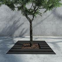 Griglia per alberi in metallo / quadrata
