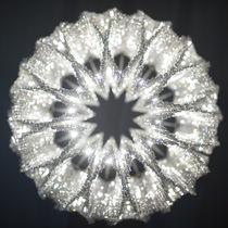 Lampadario moderno / in cristallo / in acciaio inossidabile / LED