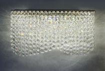 Applique moderna / in acciaio inossidabile / in cristallo / LED