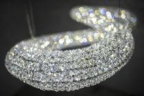 Lampadario moderno / in cristallo / in acciaio inossidabile lucido / LED
