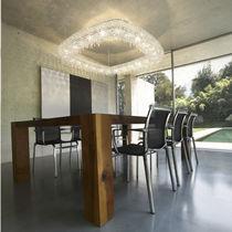 Lampadario moderno / in cristallo / fatto a mano