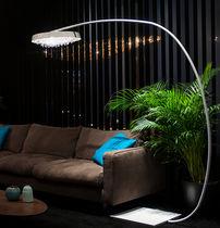 Lampada con piede / moderna / in cristallo / da interno