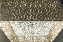 Lampadario moderno / in cristallo / alogeno / fatto a mano