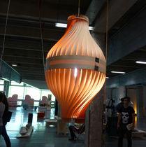 Lampada sospesa / design originale / in legno / da interno