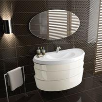 Mobile lavabo sospeso / in legno / moderno / laccato