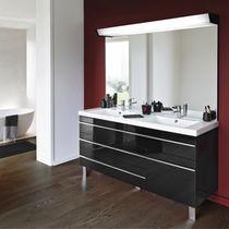 Mobile lavabo doppio / sospeso / in laminato / moderno