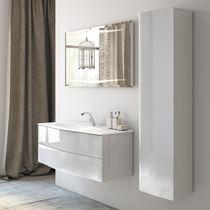 Mobile lavabo sospeso / in legno / moderno / in kit