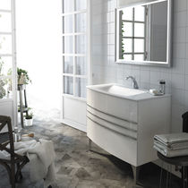 Mobile lavabo sospeso / da appoggio / in legno / moderno