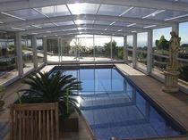 Copertura per piscina alta / telescopica / in metallo / ad azionamento manuale