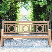 Panca da giardino / classica / in teak / con schienale