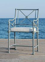 Sedia da giardino classica / con braccioli / in alluminio